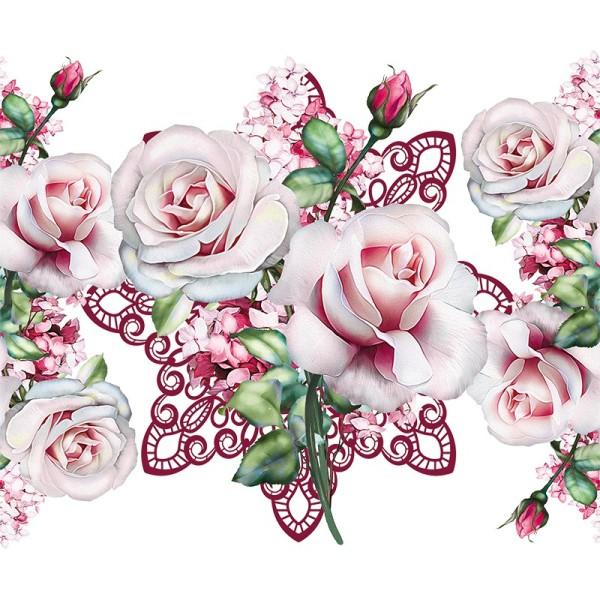 Zauberfolien, Rosensträußchen, Schrumpffolien für Ø9cm, 25cm hoch, 2 Stück