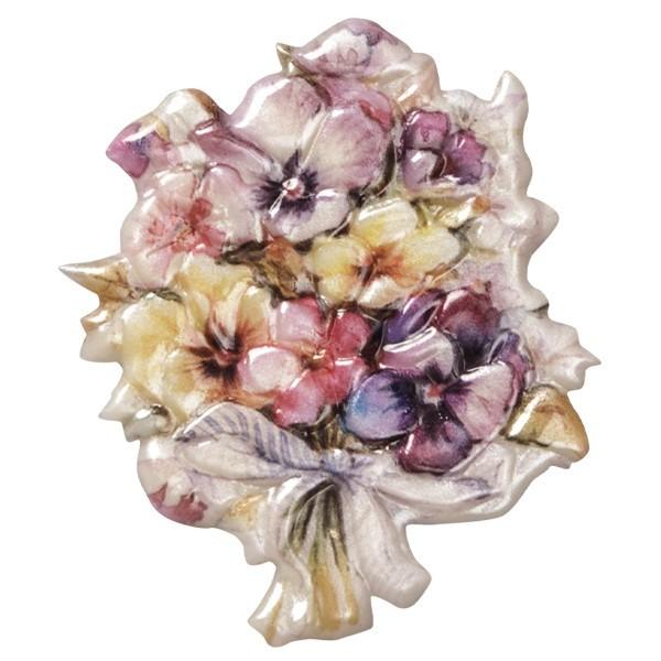 Wachsornament Blumenvasen 5, farbig, geprägt, 7,5cm
