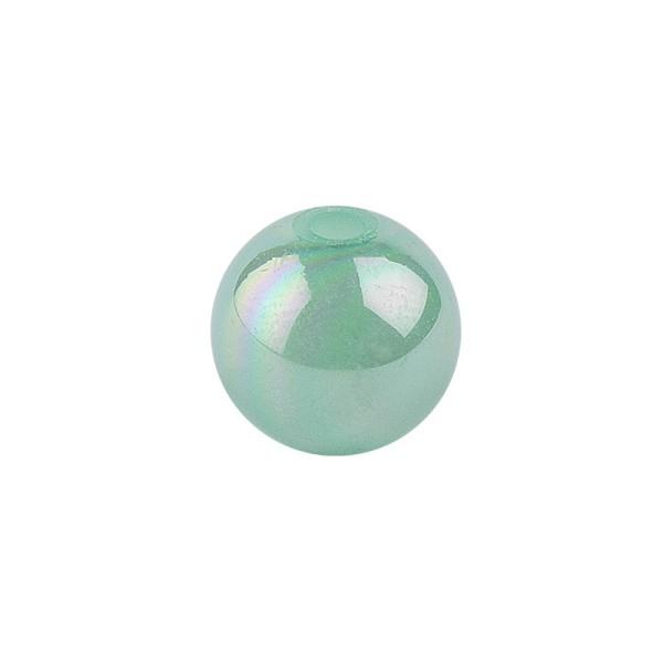 Perlen, irisierend, Ø 4mm, grün-irisierend, 200 Stk.