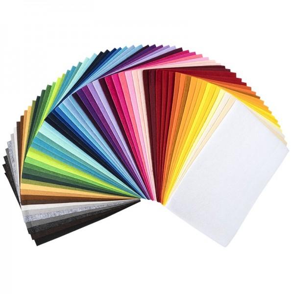 Bastelfilz, DIN A4, 2mm stark, 60 verschiedene Farben, 60 Bogen