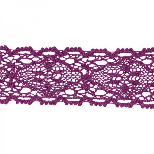 Häkelspitze Design 9, 3,7cm breit, 2m lang, aubergine