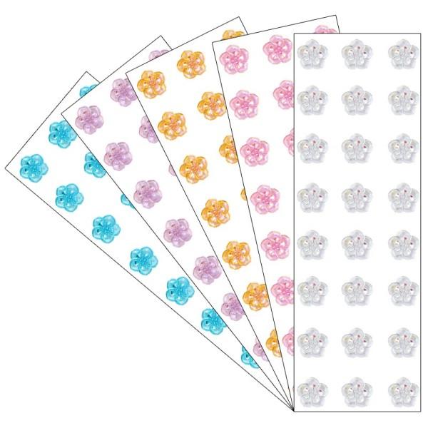 Kristallkunst, Schmuckstein Blüte 4, 10cm x 30cm, selbstklebend, verschiedene Farben, 5 Stück