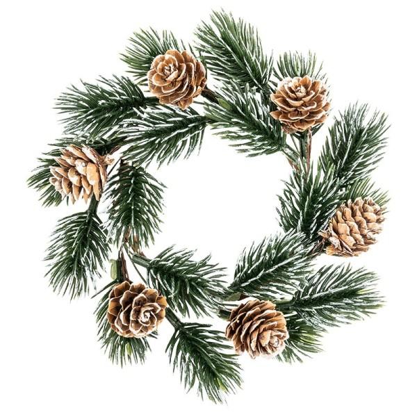 Deko-Kranz, Weihnachten 5, mit Koniferenzweigen & Tannenzapfen, Ø 14cm