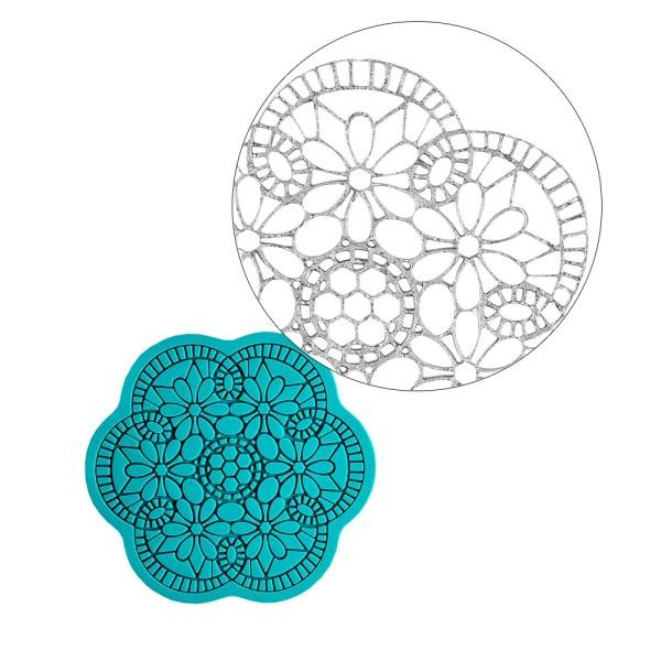 Silikon-Dekormatte, Design 14, Ø 8,4cm x 0,3cm