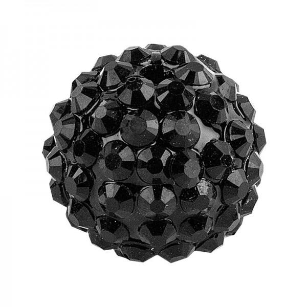 Kristall-Perlen, Ø 10mm, schwarz, 10 Stück