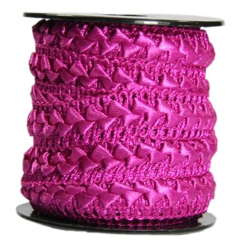 Bordürenband, Stoff, edle Dreiecke, 17mm x 10m, fuchsia