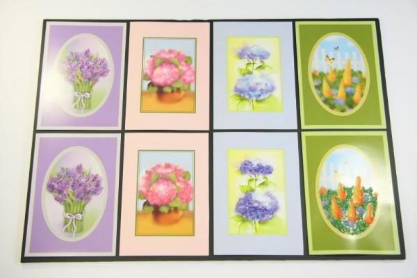 Floristica-Karten, DIN B6, 4 Stück