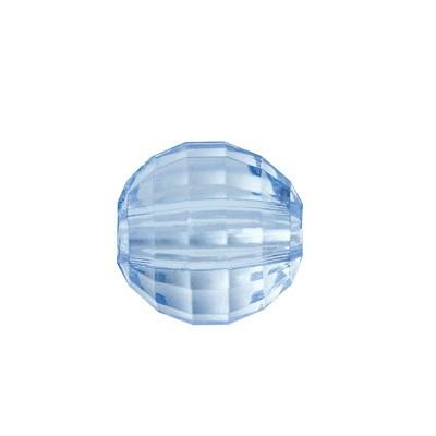 Facetten-Perlen, transparent, Ø8mm, 100 Stück, himmelblau