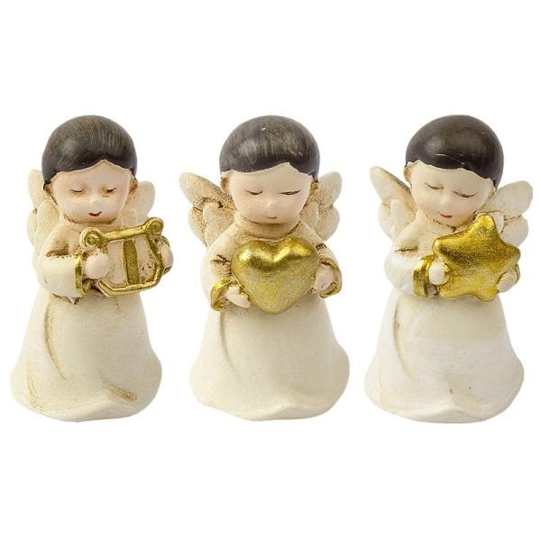 Deko-Figuren, Engel, 3,6cm x 2cm x 1,9cm, 3 Stück