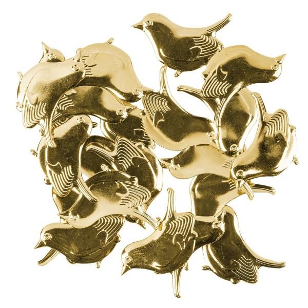 Messing Ornamente, Vogel, 20 Stück
