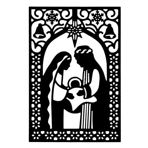 Stanzschablone, Heilige Familie, 9,5cm x 14cm