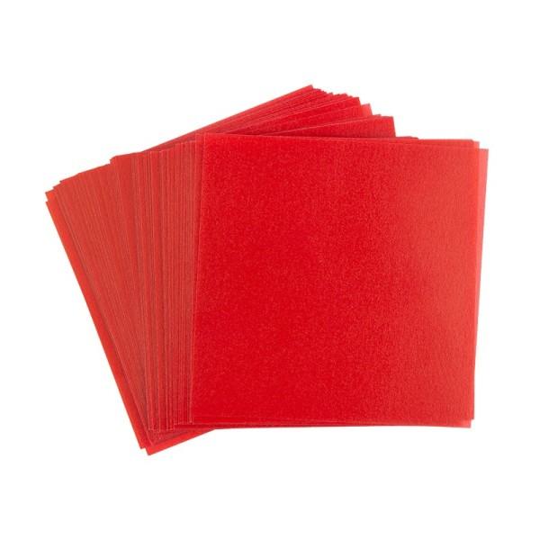 Faltpapiere, transparent, 10cm x 10cm, 110 g/m², rot, 100 Stück