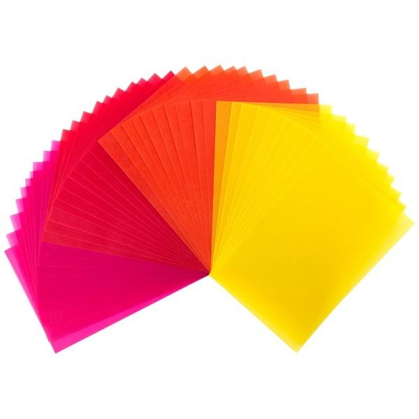 Transparentpapiere, 10cm x 15cm, 40 Stück, 130g/m², Gelb-/Rottöne