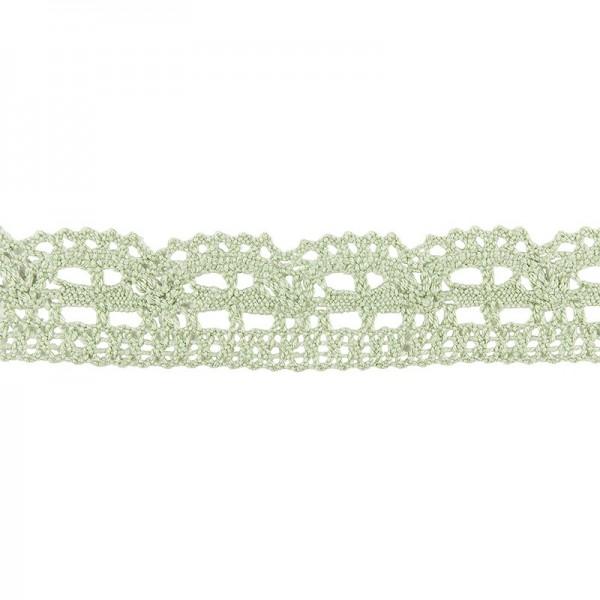 Häkelspitze Design 3, 2,4cm breit, 2m lang, grün