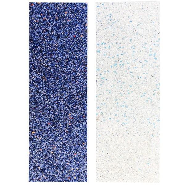 "Stoffe Royal ""Glitzer-Traum"", selbstklebend, 10 x 29 cm, 2 Stück, blau & weiß-irisierend"