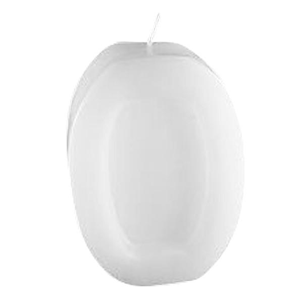 Oval-Rahmen-Kerze, ausgehöhlt, ca. 125 x 95 mm, weiß