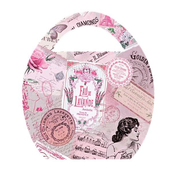 """Deko-Bild """"Ei-Tasche Vintage"""", mit Griff, 20x23cm, rosa, 2 Stück"""