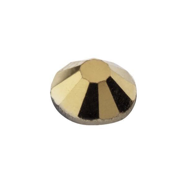 Hot-Fix Glas-Kristalle zum Aufbügeln, Ø5mm, 150 Stk., gold