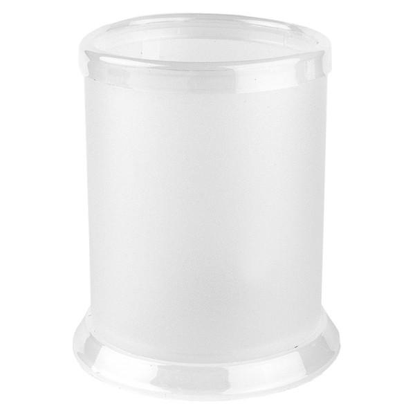 Tisch-Laternen, Ø 7,9cm, 10,3cm hoch, transparent/weiß, 5 Stück