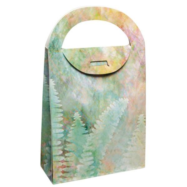 Geschenktasche Farn, 4,5 x 11,5 x 20 cm, grün