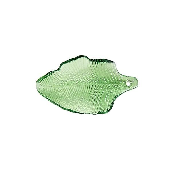 Acryl-Blatt-Ornamente, 3,2 x 1,8 cm, grün, 10 Stück
