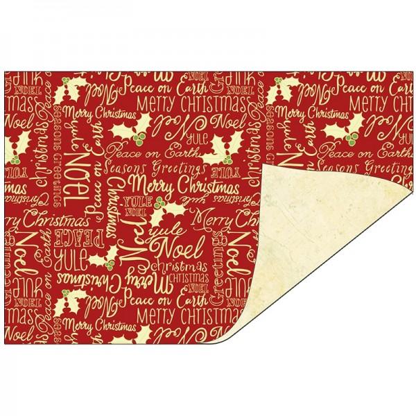 Faltpapiere Duo-Design 25, 10x15 cm, Weihnachtswünsche/creme, 50 Stück