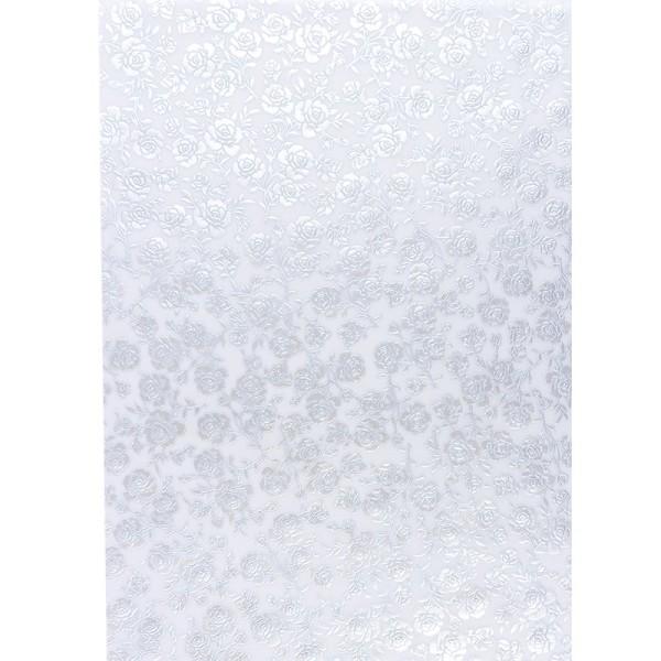 Transparentpapiere, Nova Noblesse 7, mit Top-Prägung & Perlmuttlack, DIN A4, 5 Bogen, taubenblau