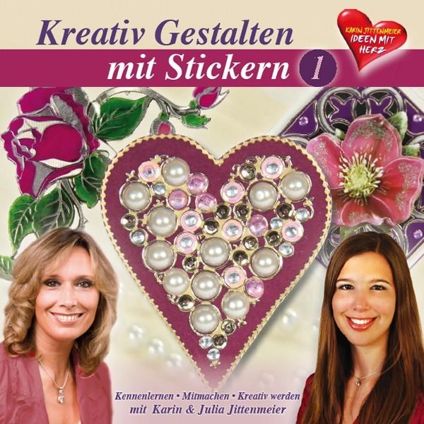 DVD, Kreativ Gestalten mit Stickern, 140 min, J.&K. Jittenmeier