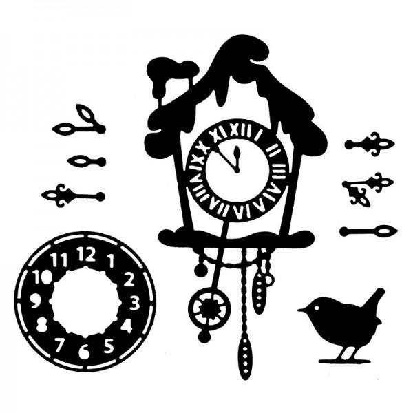 Stanzschablonen, Uhren, 9 Stück