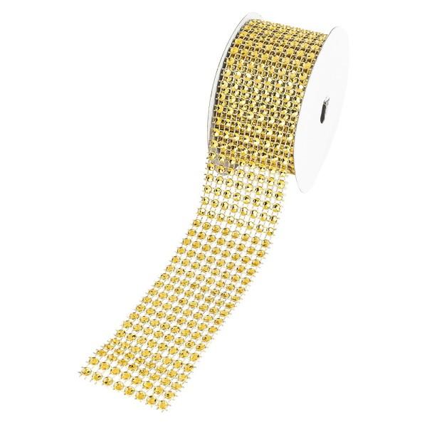 Schmucknetz-Band, 4cm breit, 1,5m lang, gold