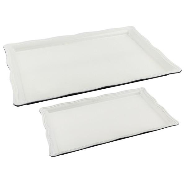 Tabletts, verschiedene Größen, weiß, 2 Stück