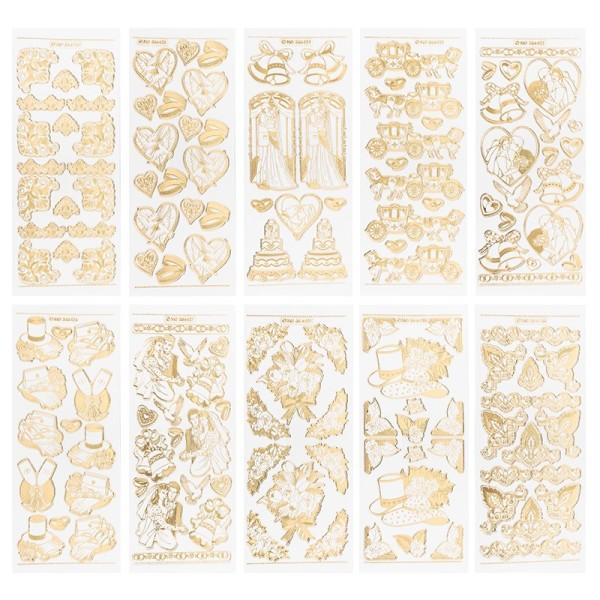 Gravur-Sticker, Hochzeit, 10 Bogen