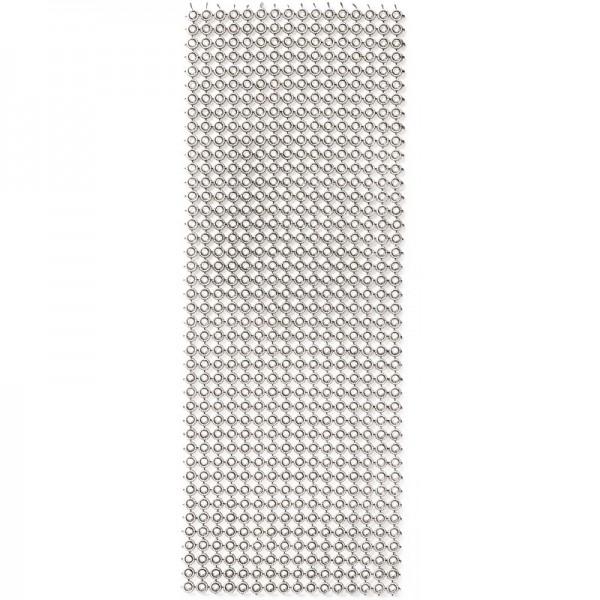 Schmuck-Netz, selbstklebend, 12 x 30 cm, antik-silber