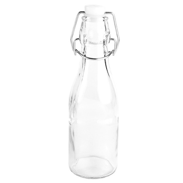 Glasflasche mit Bügelverschluss, Höhe 19,8cm, Ø 6cm, 260ml