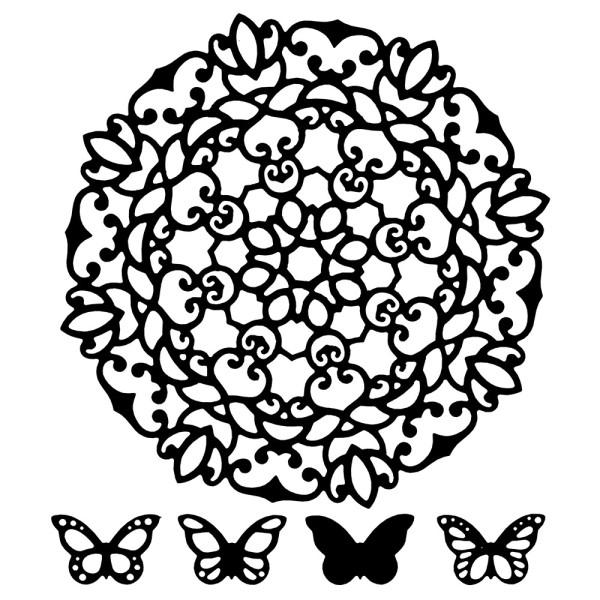 Stanzschablonen, Zierdeckchen & Schmetterlinge 1, 5 Stück