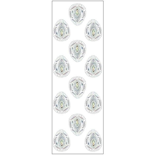 Kristallkunst, Ei-Ornament, 10cm x 30cm, selbstklebend, klar irisierend