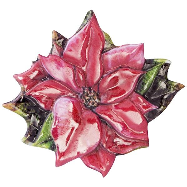 Wachsornament Weihnachts-Floristik 8, farbig, geprägt, 7-7,5cm