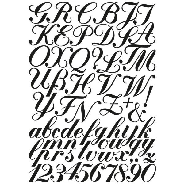 Stanzschablonen, Buchstaben & Zahlen, 69 Stück