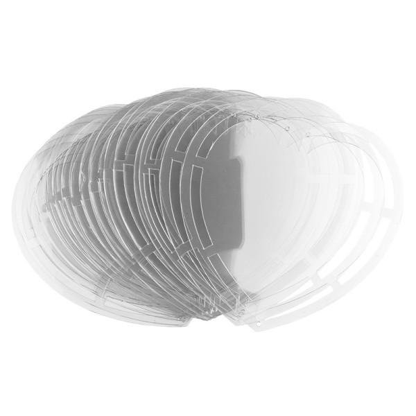 Windradfolien-Scheiben, Herz, 16cm x 16cm, transparent, 500µ, 20 Stück