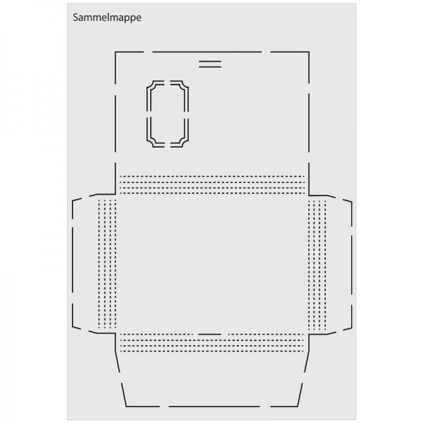 """Design-Schablone """"Sammelmappe"""", DIN A3"""