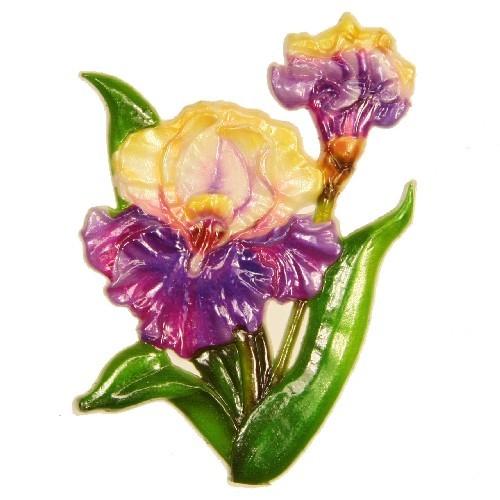 Wachsornament Schwertlilie, 8,5 x 6 cm