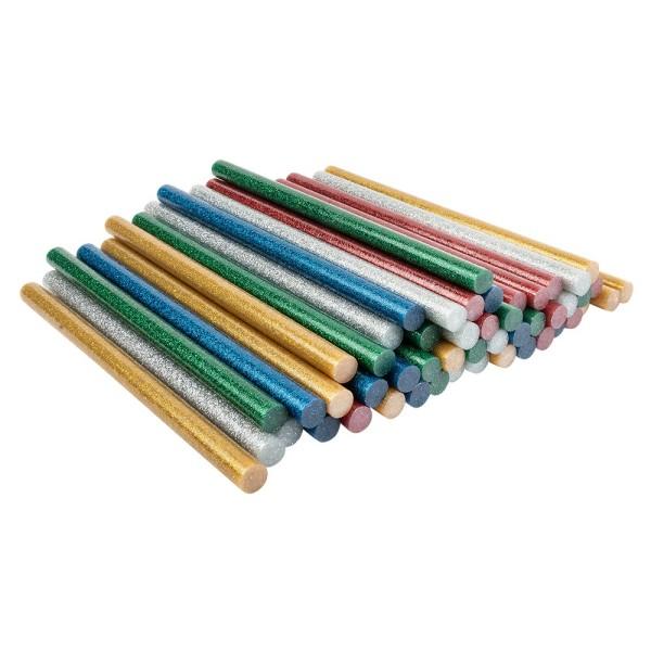 Universal Heißklebepatronen, Glitzer, Ø 1,1cm, 20cm lang, 50 Stück