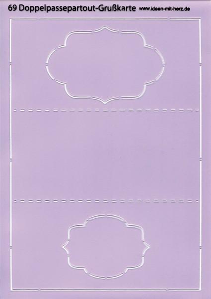 "Design-Schablone Nr. 69 ""Doppelpassepartout-Grußkarte"", DIN A4"