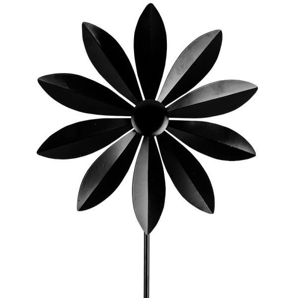 Windrad Design 1, Ø 28,5cm, Höhe 107cm, schwarz