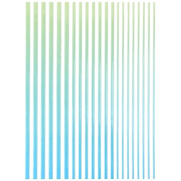 """3-D Sticker-Bordüren """"Farbverlauf"""", 28,5cm, verschiedene Breiten, grün/blau"""