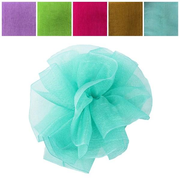 Zieh-Rüschenband, Organza, Pastell-Farben, 0,9m x 3cm, 10 Stück