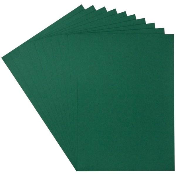 Deko-Papier/Stanz-Papier, 15,5 x 21,5 cm, 180g/m², 10 Blatt, dunkelgrün