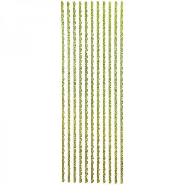 """Glitzer-Bordüren """"Lilia"""", selbstklebend, 10cm x 30cm, lindgrün"""