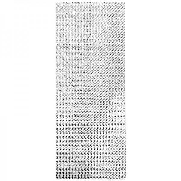 Schmuckstein-Matte, selbstklebend, 10cm x 30cm, facettiert, klar