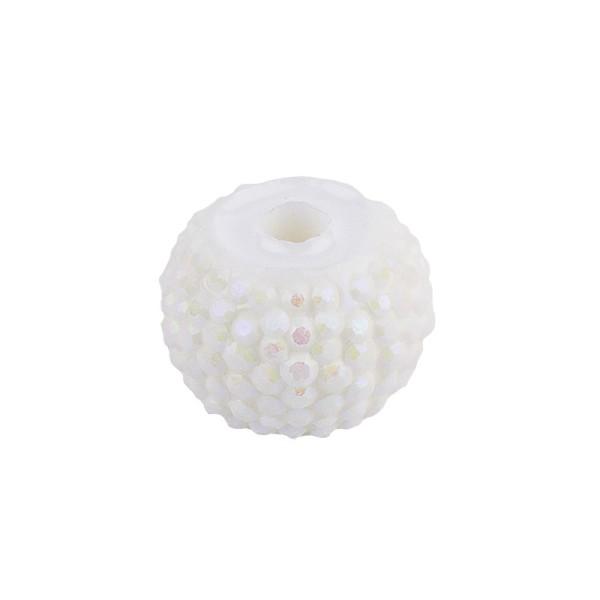 """Rondelle """"Royal"""", Ø1 cm, facettiert, 20 Stück, weiß-irisierend"""